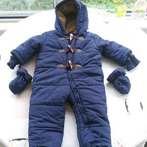 9-12 month full zip snow suit by children's place